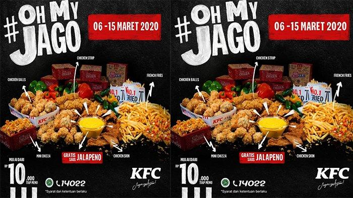 Promo KFC Hanya Rp 10.000 Ada Menu Chicken Skin hingga Mini Chizza, Berlaku hingga 15 Maret 2020