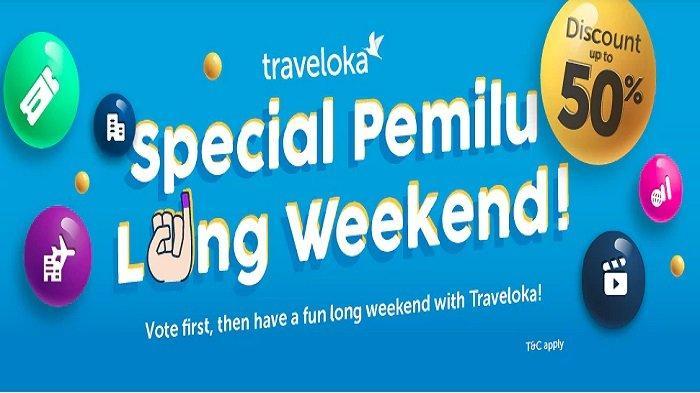 Promo Traveloka Spesial Pemilu Bisa Dapat Diskon Tiket Pesawat Dan Hotel Tribunnews Com Mobile