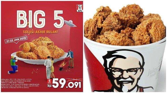 Promo Kfc Terbaru Beli 5 Potong Ayam Cuma Rp 50 Ribuan Khusus Hari Ini Dan Besok Tribunnews Com Mobile
