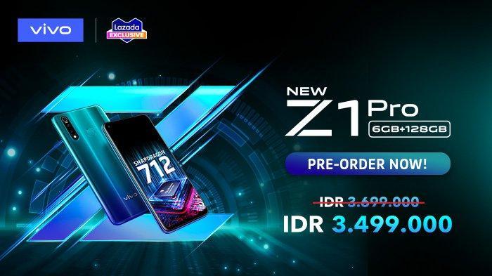 Promo vivo Z1 Pro dengan RAM 6GB dan ROM 128GB.
