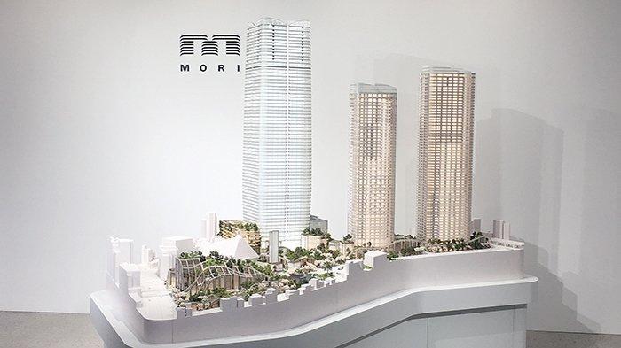 Proyek Toranomon Azabudai (TA) dengan ketinggian gedung 330 meter tahun 2023 mendatang di Tokyo yang dibuat oleh Mori Building Co.Ltd.