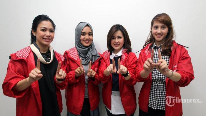 Pengurus DPP Partai Solidaritas Indonesia (PSI) Tmenyambangi redaksi Tribunnews.com di Palmerah, Jakarta Barat, Selasa (27/3/2018). TRIBUNNEWS/DANY PERMANA