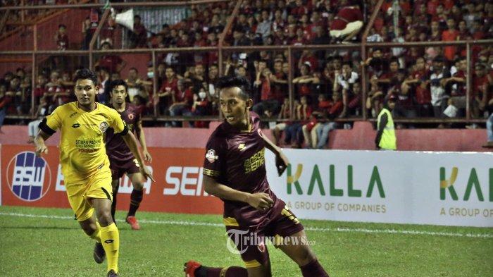PSM Makassar mengalahkan Semen Padang dengan skor tipis 1-0 pada partai penutup pekan pertama Liga 12019 di Stadion Mattoanging, Senin (20/5/2019). Pada laga itu, Zulham Zamrun sukses mencatatkan namanya di papan skor di menit 24 melalui sundulannya, hasil umpan Benny Wahyudi. tribun timur/muhammad abdiwan