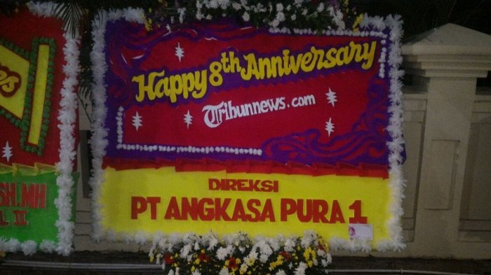 Direksi PT Angkasa Pura I Ucapkan Selamat HUT ke-8 Tribunnews.com