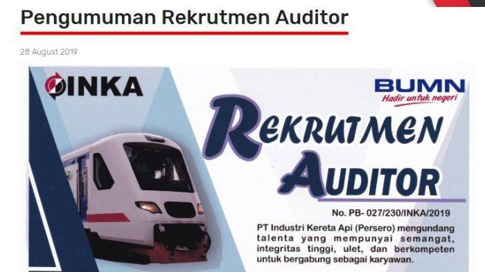 PT Industri Kereta Api (Persero) Buka Lowongan Kerja, Pendaftaran hingga 15 September 2019