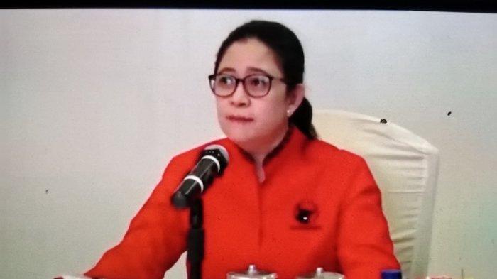 Ketua DPP PDIP bidang Politik Puan Maharani mengumumkan pasangan calon kepala daerah secara virtual, Jakarta, Rabu (2/9/2020).
