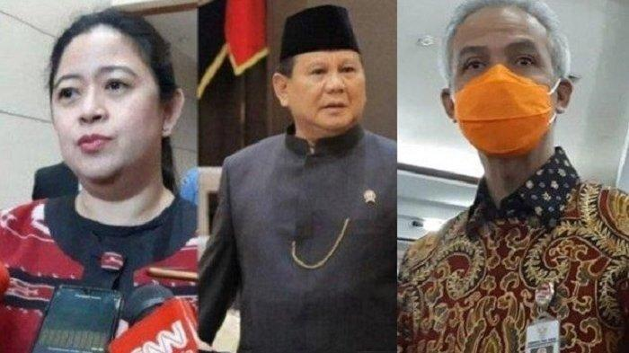 Puan Maharani, Prabowo Subianto dan Ganjar Pranowo