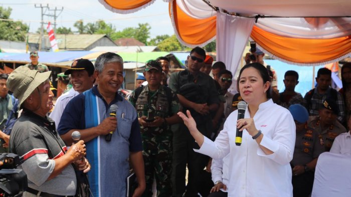 Puan Cek Langsung Penanganan Pasca Bencana NTB dan Gelar Rapat Koordinasi