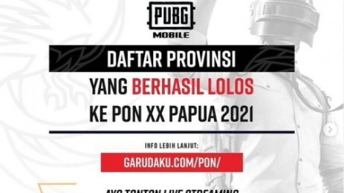Daftar 16 Provinsi yang Lolos Cabor Esports PUBG Mobile PON XX Papua 2021, Ada Tim Kuat DKI Jakarta