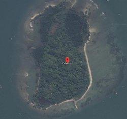 Capture Pulau Laki dari Google Maps saat ini Rabu (20/1/2021) tidak lagi tampak sinyal SOS yang viral di media sosial