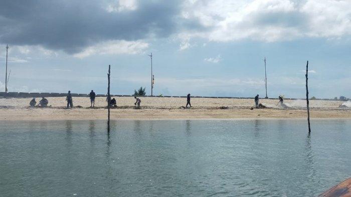 Pemuda Pulau Putri Batam Manfaatkan Pandemi untuk Merawat Lingkungan