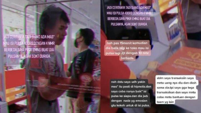 VIRAL Karyawan Minimarket Tolong Korban Hipnotis yang Diminta Kirim Pulsa Rp 2 Juta, Begini Kisahnya
