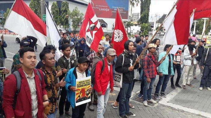 Sebut Indonesia Darurat Agraria, Puluhan Mahasiswa Unjuk Rasa di Depan Balai Kota Solo