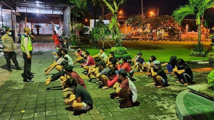 Balapan Liar di Jalan Gatsu Barat Kota Denpasar, 31 Pemuda dan 22 Unit Sepeda Motor Diamankan