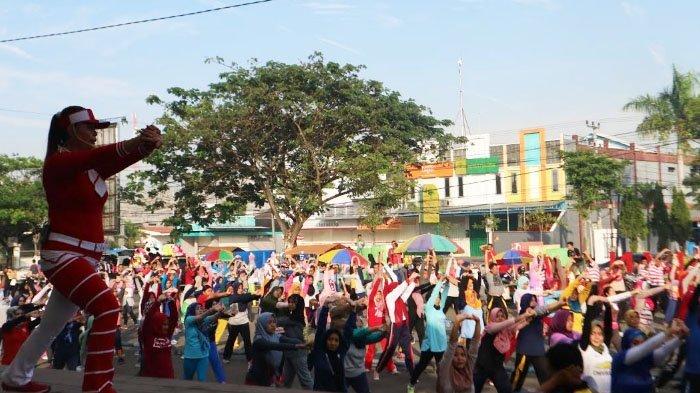 Ueforia Sukses Gelar Asian Games Menjalar ke Bangkalan, Warga Gelar Senam Massal
