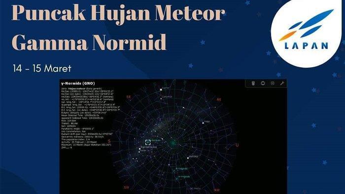 Puncak Hujan Meteor Gamma Normid Bakal Terjadi Mulai Malam Ini di Langit Indonesia