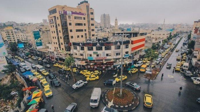 Pusat kota Hebron, Tepi Barat, Palestina