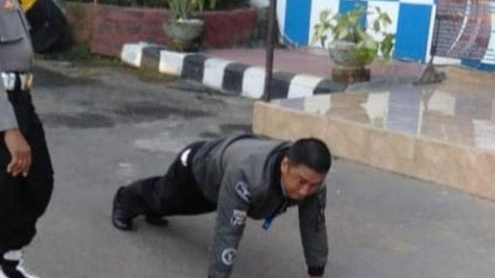 Anggota Polisi Tak Pakai Masker, Propam Polres Gianyar Beri Sanksi Push Up