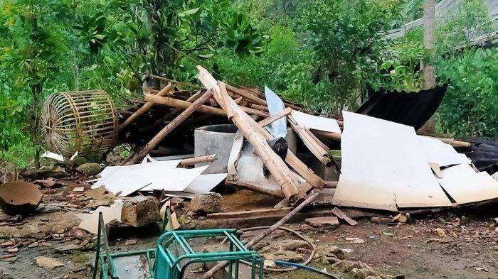 Angin Puting Beliung Landa Nglipar Gunungkidul, Akibatkan Rumah Rata Tanah