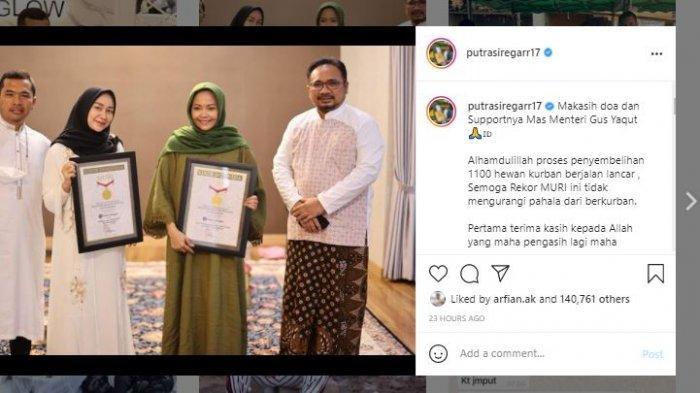 Putra Siregar dalam unggahan Instagramnya