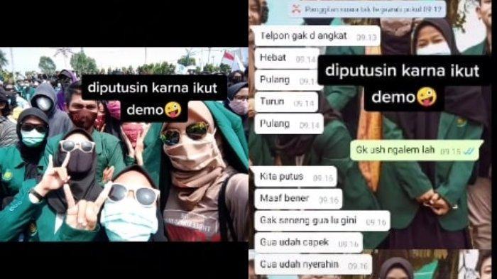 VIRAL Kisah Mahasiswi Diputusin Pacar karena Ikut Demo Tolak UU Cipta Kerja: Cuma Kesalahpahaman