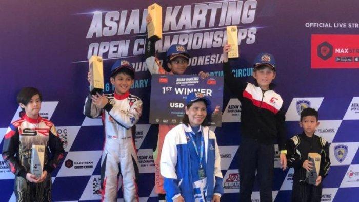 Qarrar Firhand Ali Tampil Luar Biasa di Asian Karting Open Championship