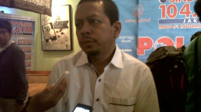 Direktur Indo Barometer M Qodari di Warung Daun, Cikini, Jakarta Pusat, Sabtu (26/6/2015).
