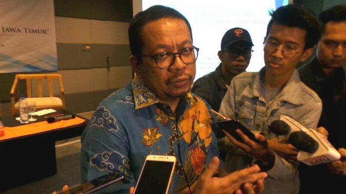 Direktur Eksekutif Indo Barometer Muhammad Qodari saat ditemui di Senayan, Jakarta Pusat, Selasa (3/4/2018).