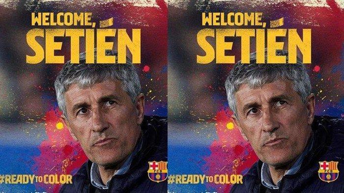 Quique Setien, pelatih baru Barcelona