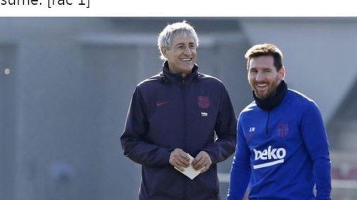 Lionel Messi yang Susah di Atur atau Quique Setien yang Tak Becus Latih Pemain Dunia di Barcelona?