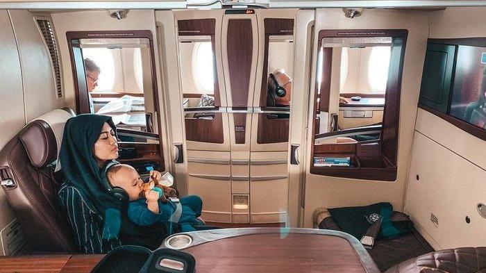 Rachel Vennya dan Xabiru naik pesawat suite class, harga tiketnya Rp 92 juta sekali jalan