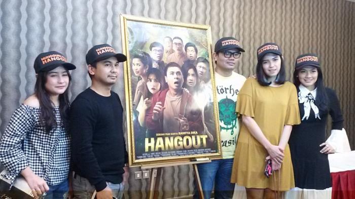 Raditya Dika di acara rilis teaser poster dan video teaser film 'Hangout di Jakarta, Rabu (19/11/2016).