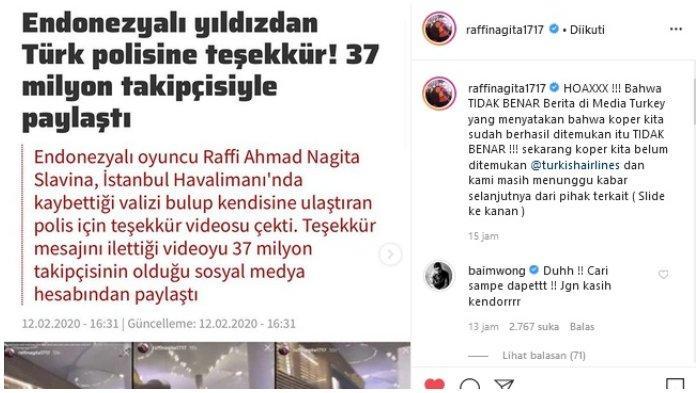 Raffi Ahmad beri klarifikasi