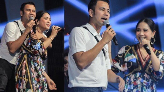 Raffi Ahmad dan Nagita Slavina berduet menyanyikan lagu Yuni Shara '50 Tahun Lagi'
