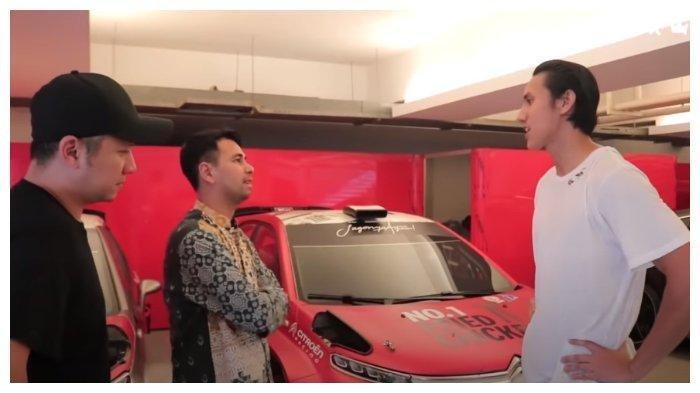 Gading Marten dan Raffi Ahmad berkunjung ke garasi pembalab muda, Sean Galael, Jumat (29/5/2020).
