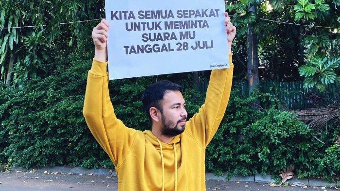 Raffi Ahmad turut singgung soal bersuara di tanggal 28 Juli 2021 besok.