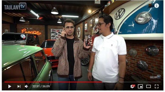 Raffi Ahmad dan Andre Taulany (Tangkap Layar YouTube Taulany TV).