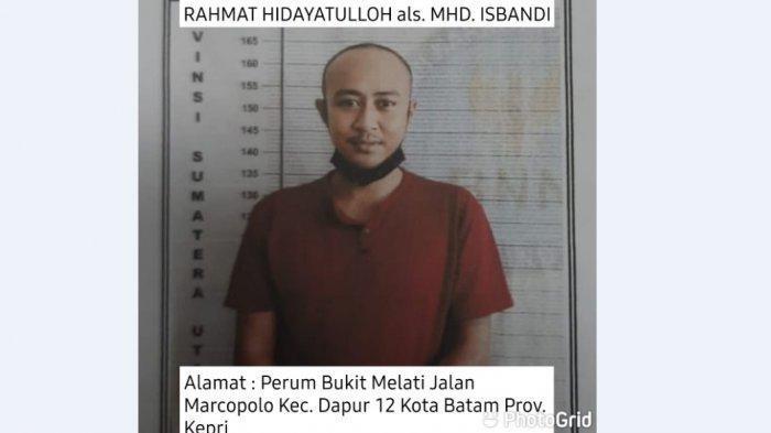Rahmat Hidayatulloh, satu dari enam tahanan BNNP yang kabur dari