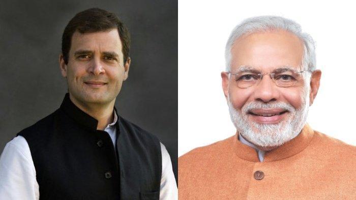 Pemimpin Oposisi Rahul Gandhi (kiri) mempertanyakan sejumlah kebijakan PM India Narendra Modi (kanan) di perbatasan.