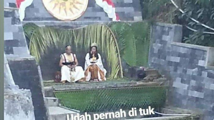 Raja dan ratu Keraton Agung Sejagat di Tuk Bimalukar Dieng