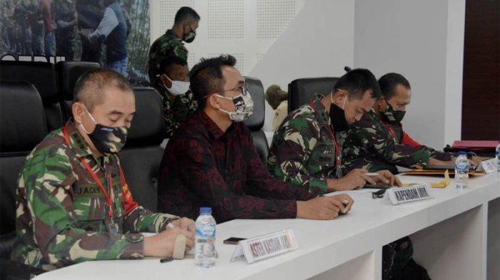 Rakornis TNI Manunggal Membangun Desa (TMMD) ke-108 bertema TMMD Pengabdian untuk Negeri secara video teleconference