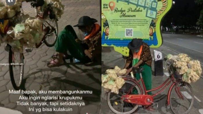 VIRAL Kisah Kakek 72 Tahun Penjual Kerupuk Rambak di Solo, Gigih Bekerja dan Pantang Meminta-minta