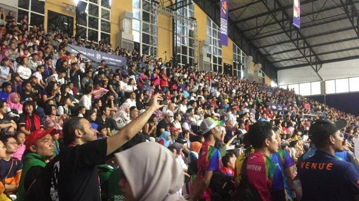 Ribuan Penonton Indonesia Padati Hall Basket Nonton Laga Final Wheelchair basketball Iran vs Jepang