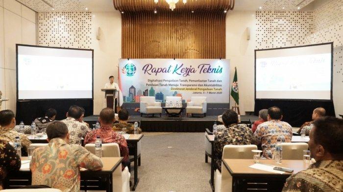 Rapat Kerja Teknis (Rakernis) Direktorat Jenderal (Ditjen) Pengadaan Tanah Kementerian ATR/BPN diselenggarakan di Hotel Le Meridien, Jakarta, Kamis (5/3/2020).