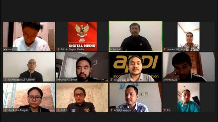 Rapat virtual PSSI dengan APPI, pada Selasa 26 Mei 2020