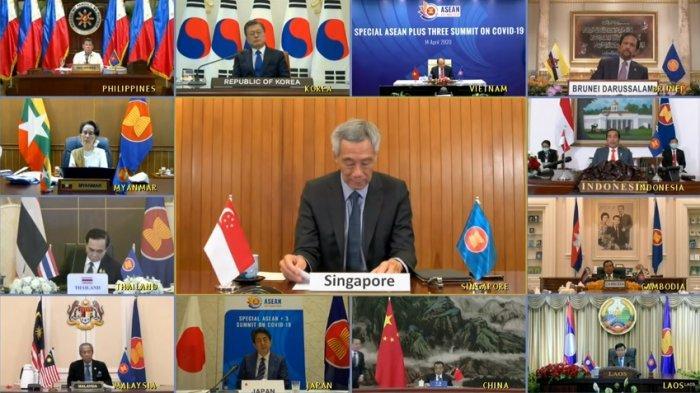 KTT (Koferensi Tingkat Tinggi) ASEAN pada Selasa (14/4/2020) membuahkan kesepakatan terkait Covid-19.