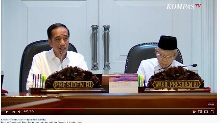 Acara rapat terbatas perdana Kabinet Indonesia Maju