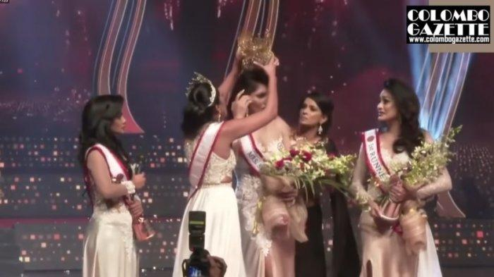 Momen Mahkota Ratu Kecantikan Sri Lanka Diambil Lagi karena Status Janda, Turun Panggung dan Cidera