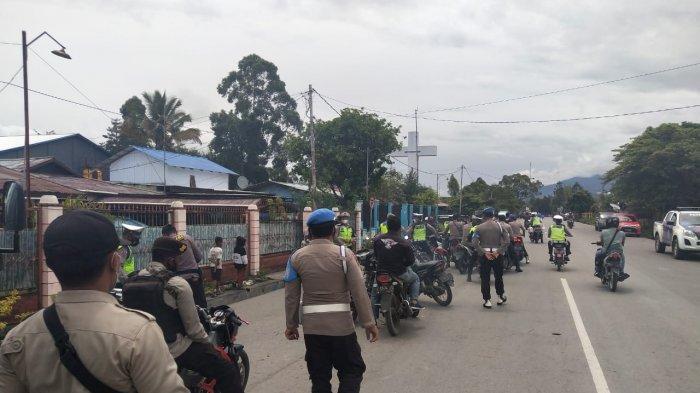 Satu Jam Razia, Polres Jayawijaya Temukan 29 Motor Tanpa Surat dan 5 Senjata Tajam