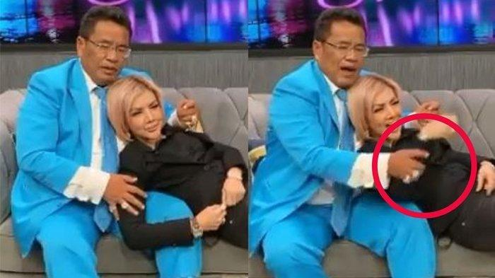 Reaksi Hotman Paris saat Barbie Kumalasari Gelendotan di Pangkuannya: Jangan Raba-raba Paha Gue